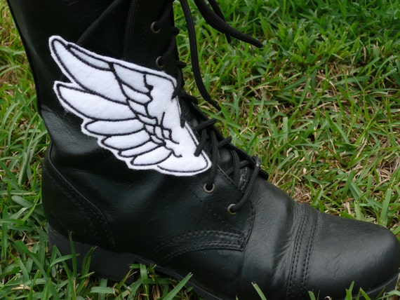 Bold White and Black Percy Jackson Inspired Shoe Wings