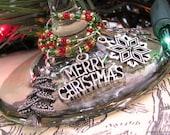 Christmas WINE glass CHARMS holiday seasonal Set of 8 wine markers