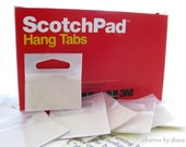 Hang Tabs Plastic Destash Scotch Sticky Pads 100 pack - perfect for Store Displays Craft Fairs