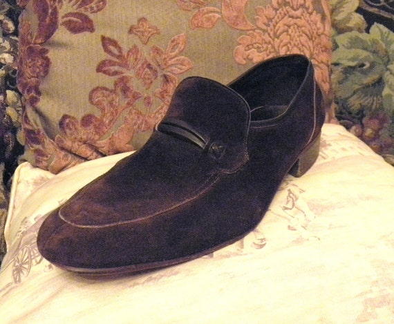 Bruno Magli Loafers, Vintage Loafers, Italian Brown Suede Loafers 10