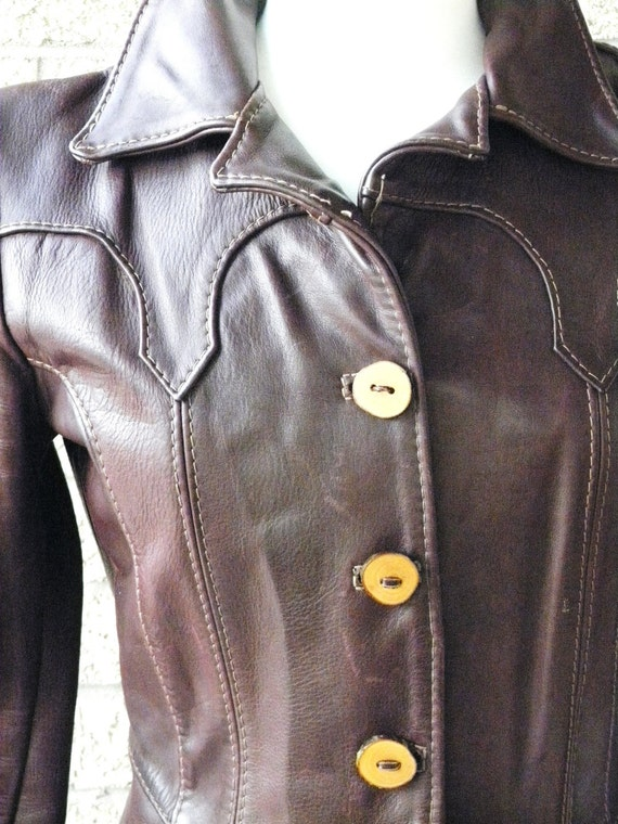 SALE Oshwahkon, Vintage Leather Jacket, 1970s Rare Oshwahkon, Brown and Burgundy Leather