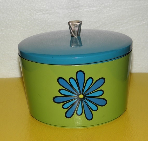 Mod Snack Set, Nesting Bowl Set, Blue and Green Set with Lid