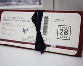 Airplane Ticket Birthday Invitation File