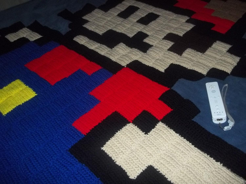 Giant 8 bit super mario rug Controller rug