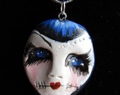 OOAK - Goth - Art doll - Necklace - Zombie Goth