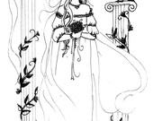 Art - Print - Black and White - A Wife