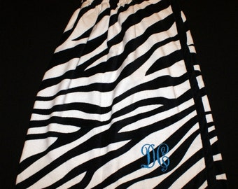 Zebra Print Terry Velour Spa Wrap Great Present for All Occasions