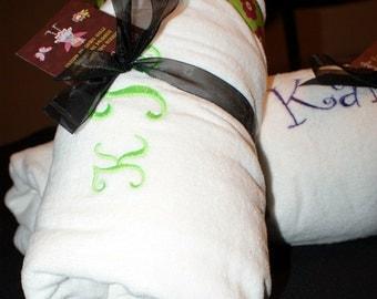 Luxurious Terry Velour Spa Wrap for Wedding Party Set of 2