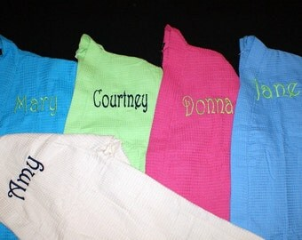 Spa Robes Set of 3 Your choice of Colors and Personalization