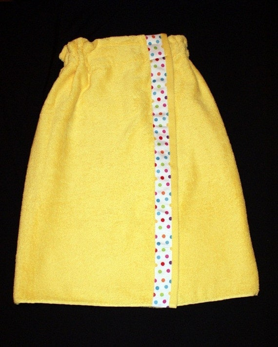 Yellow Spa Towel Wrap for Bride and Bridesmaids, Customize and Personalize with your choice of colors and free Monogram