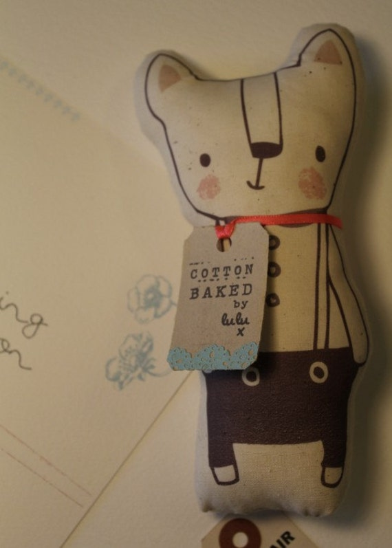 Handmade cotton calico character