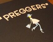 Preggers Pregnant Girl with Purse Die Cut