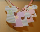 Baby Girl Outfit Die Cut, Baby Girl Embellishment, Baby Girl Shower
