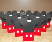 Mickey Mouse Party Favor Bags, Goody Bags, Mickey Mouse Treat Bags