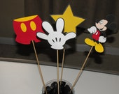 Mickey Mouse CenterPiece, Mickey Mouse Cake Toppers