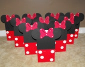 Minnie Mouse Party Favor Bags, Minnie Mouse Red and White Treat Bags