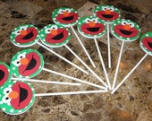 Elmo Cupcake Toppers