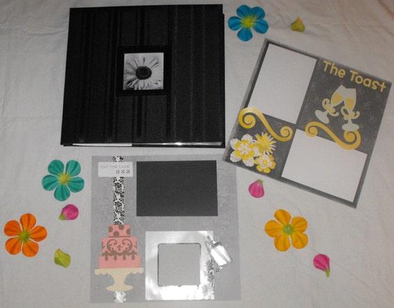 12x12 Premade Wedding Scrapbook Wedding Album Memory Book