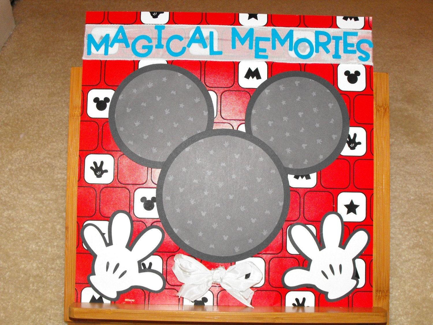 How to scrapbook disney - Premade 12x12 Mickey Mouse Scrapbook Pages Disney Memory Keepsake