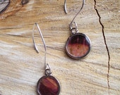 Half-Moon Autumn Leaf Earrings