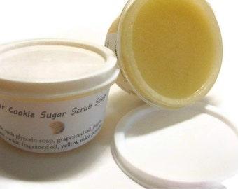 Sugar Cookie Sugar Scrub Soap-NEW LOWER PRICE, three oil blend and super foaming scrub
