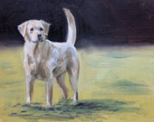 Painting Study of a Yellow Lab
