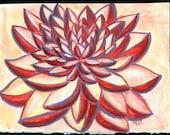 Original Watercolor Dahlia Darling
