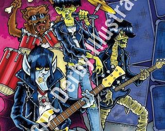 The Original Monsters of Punk- digital print