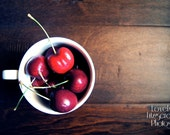 Fine Art Food Photography Print - Cup of Cherry Love