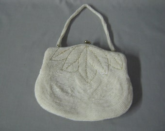 Vintage glass bead purse,reduced