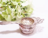 Antique Silver Tea Strainer