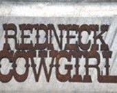 Redneck Cowgirl Rustic Metal Sign