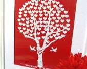 Bridal Shower/ Love Birds wedding tree print -Add couples name and date