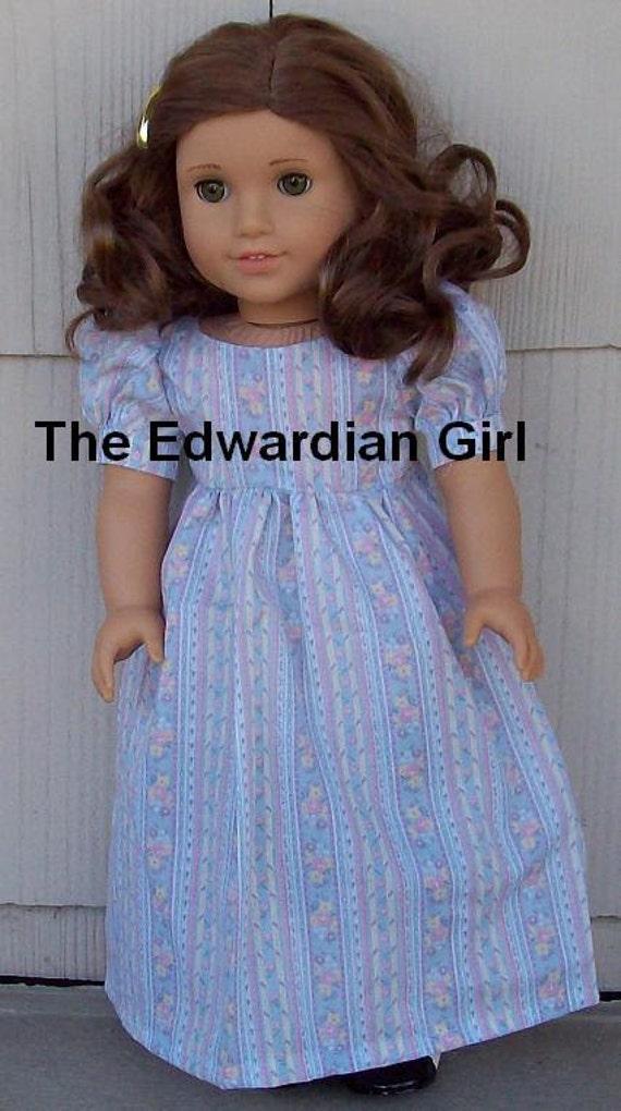 OOAK blue regency dress