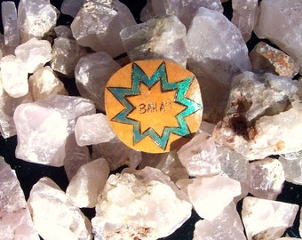 Bahai Nine point star gourd pin to wear
