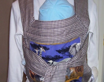 Amazingly comfortable, reversible, reinforced OOAK Mei tai styled baby carrier