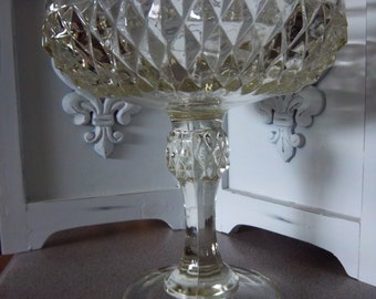 Indiana Glass 1950 Diamond Point Compote