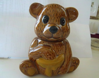 Vintage Ceramic Bear Honey Jar