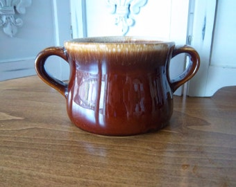McCOY Sugar Bowl Brown Drip Pattern
