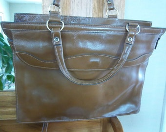 Leather Briefcase, Laptop, iPad or Notebook Bag