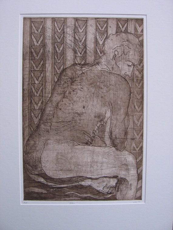 Print: Aquatint Portrait of Adan