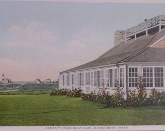 Sankaty Head Golf Club,  Nantucket Post Card  H. Marshall Gardiner.