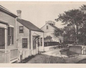 Vestal Street, Nantucket, birthplace of Maria Mitchell. Gardiner black & white post card