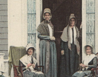 Nantucket Quakers , Set of Four Nantucket Post Cards, H. Marshall Gardiner.