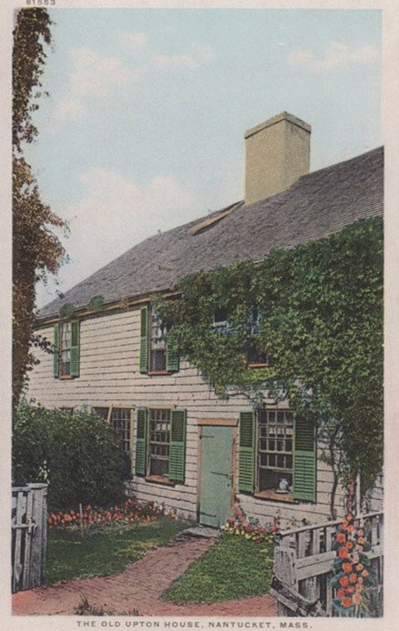 The Old Upton House, Nantucket Post Card, H. Marshall Gardiner.
