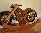 Heirloom Hardwood Rocking Motorcycle