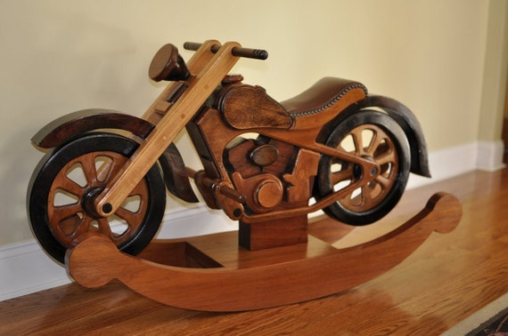 Bird house plans cornell wooden rocking motorcycle for Scooter rocking horse
