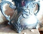 Antique 1800s Art Nouveau Adelphi Silver Company NY Quadruple Plate Pot