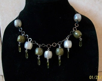 Vintage Faceted Glass Necklace