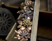 Brass flower collection